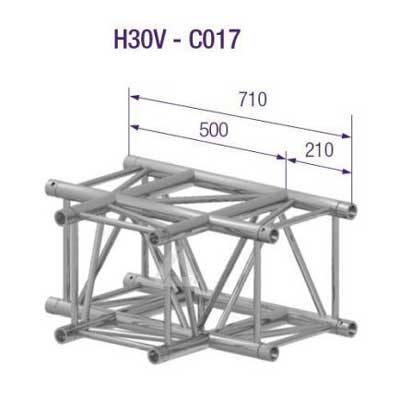 SQUARE H30 3-WAY CORNER T-JOINT